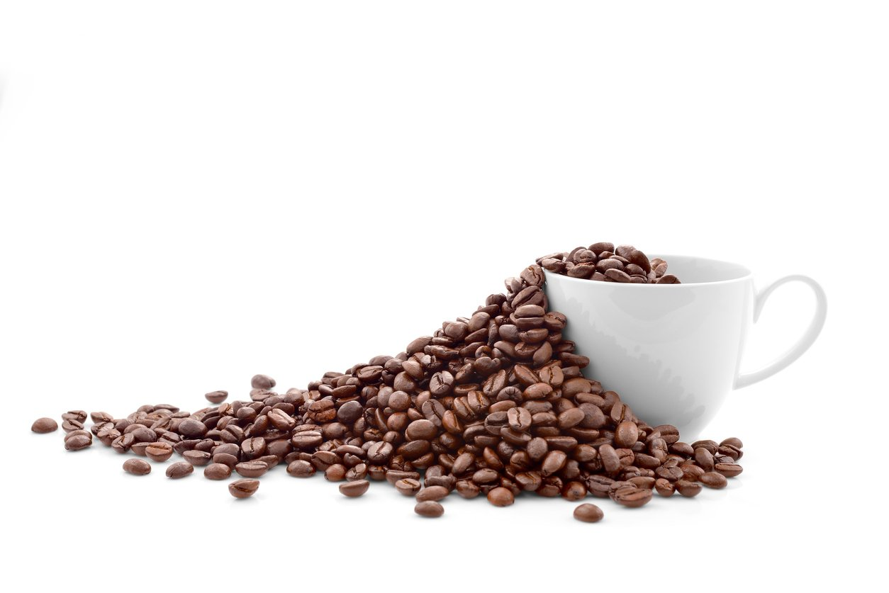 Clean coffee beans